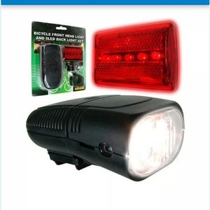 Bicycle Front Headlight and 5 LED back light set